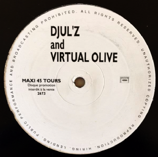 "Djul'z And Virtual Olive - Lost In A Tunnel (12"") (Promo) (VG-/G+)"